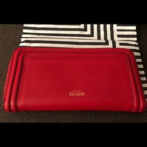 Kate Spade Saturday Red Wallet(NWOT)